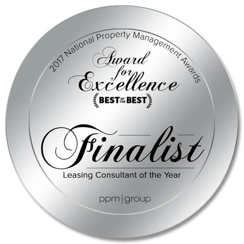 Leasing Consultant of the Year Finalist Home